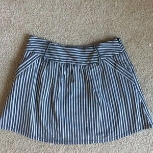 Dresses & Skirts - Gray and black striped skirt